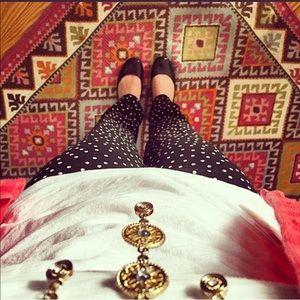 🖤 LOFT   Black & White polka dot trousers
